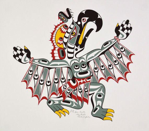 Richard Hunt Kwagiulth Sea Eagle 51 of 100 - 4